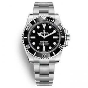Rolex Oyster Perpetual Submariner Steel Black Dial Watch