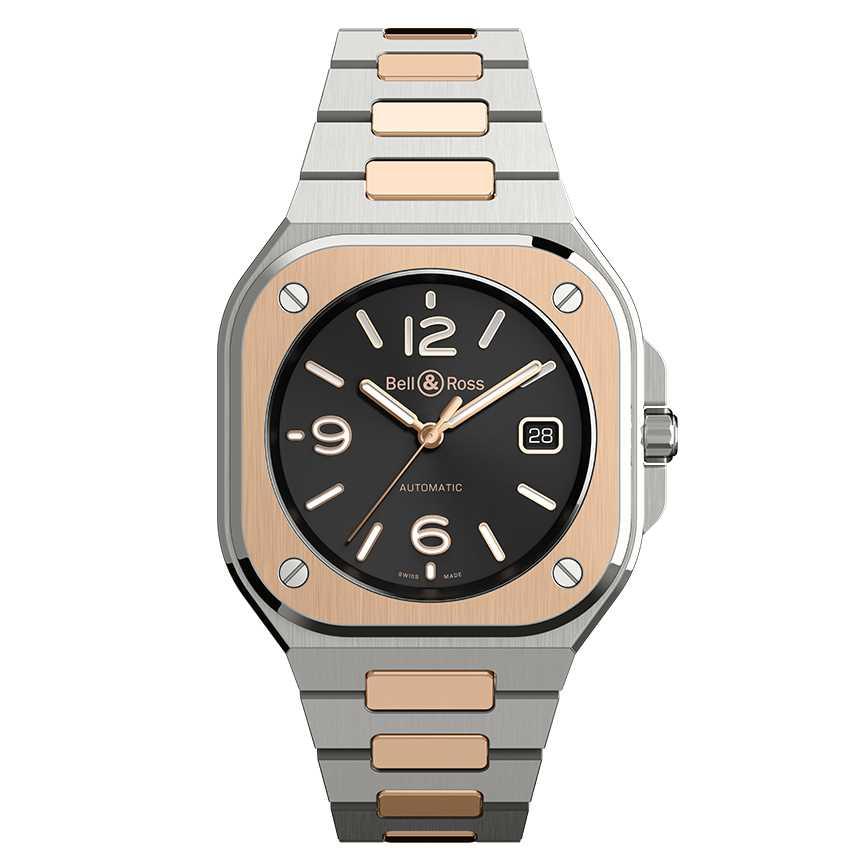 Bell & Ross BR 05 Black Steel & Gold Watch