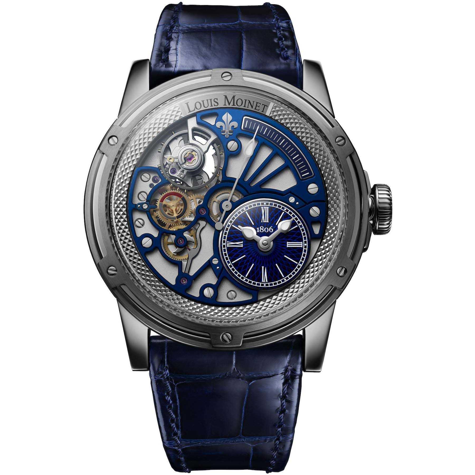 Louis Moinet 20-Second Tempograph Blue Watch