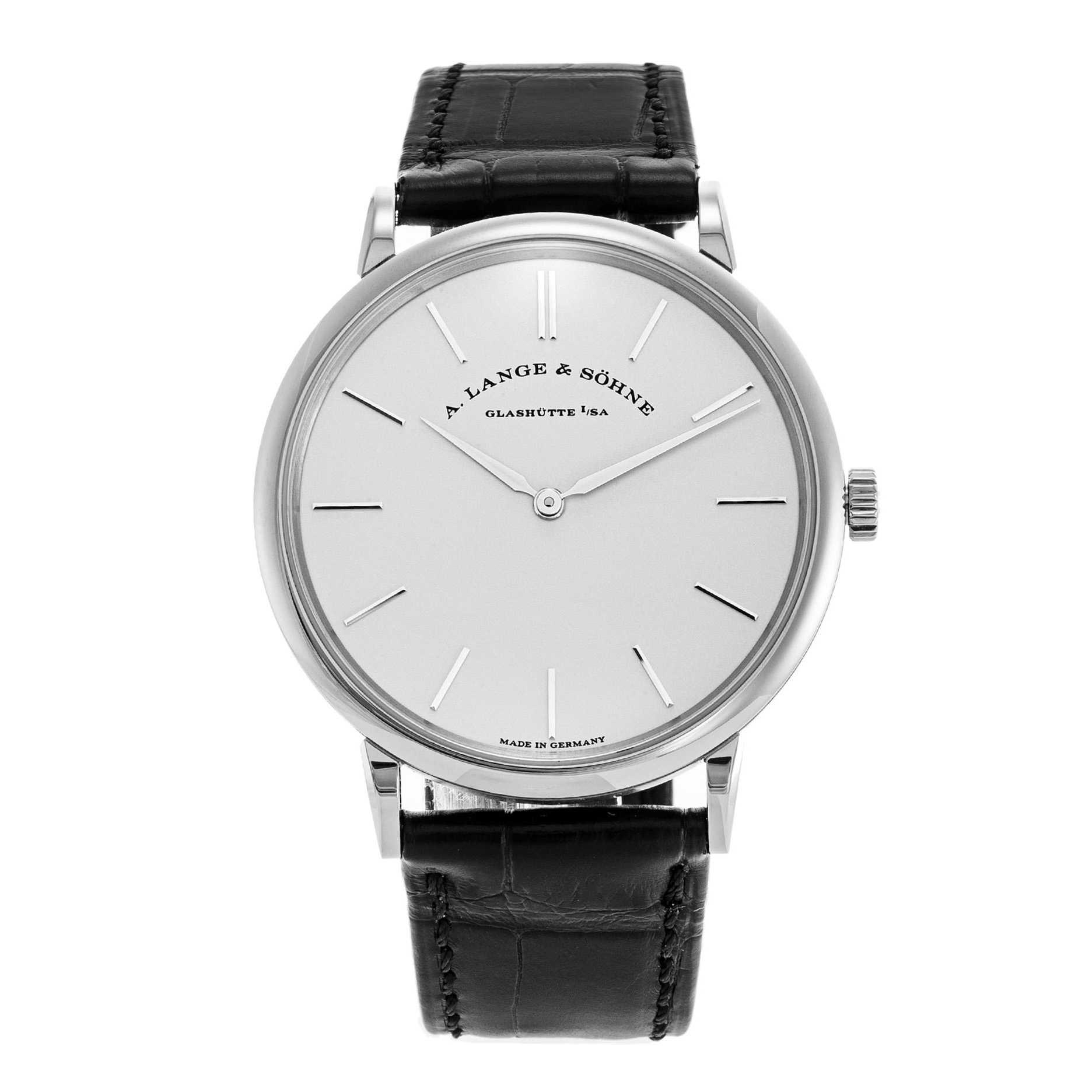 A. Lange & Söhne Saxonia Thin Silver Dial Watch