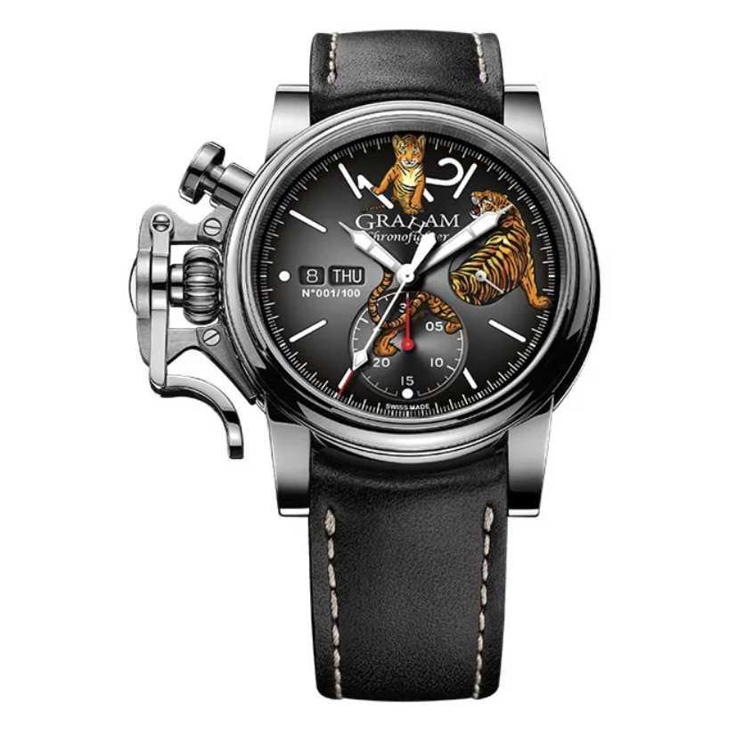 Graham Chronofighter Vintage Ltd Tiger Limited Edition Watch