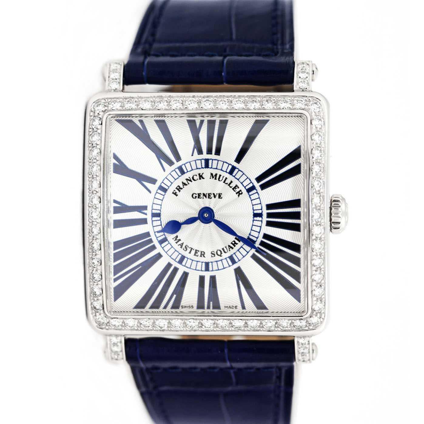 Franck Muller Master Square Blue Concept Quartz Diamond Watch