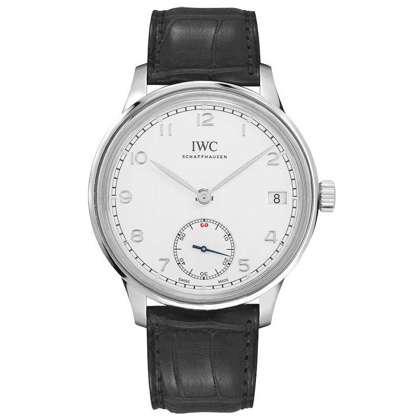 IWC Portugieser Hand Wound Eight Days 43mm Silver Dial Watch