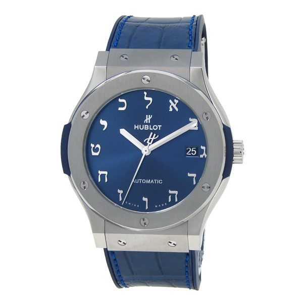 Hublot Classic Fusion Titanium Blue Dial Watch