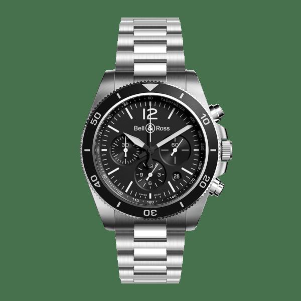 Bell & Ross BR V3-94 Black Steel Bracelet Watch
