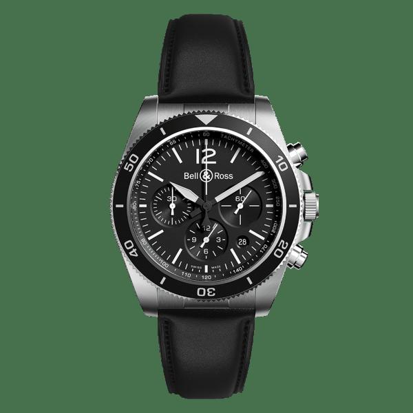 Bell & Ross BR V3-94 Black Steel Strap Watch