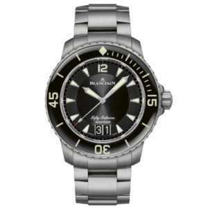 Blancpain Fifty Fathoms Grande Date 45mm Black Dial Watch