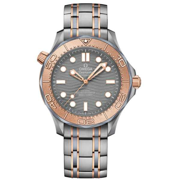 Omega Seamaster Diver 300M Co-Axial Master Chronometer Gold Titanium Watch