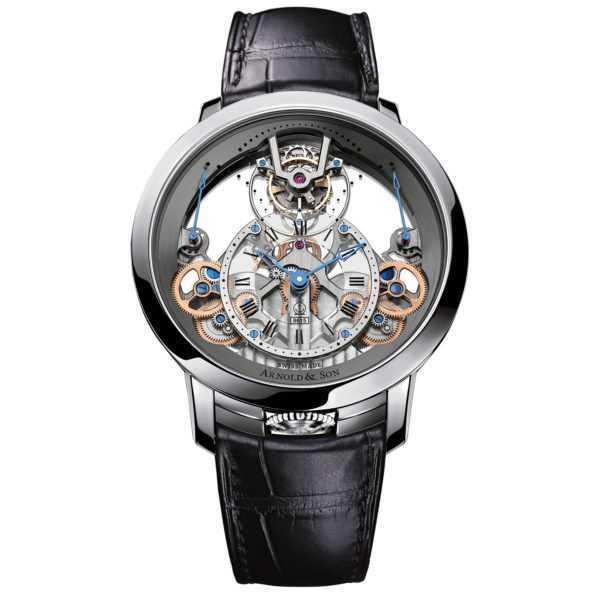 Arnold & Son Time Pyramid Tourbillon Steel Watch