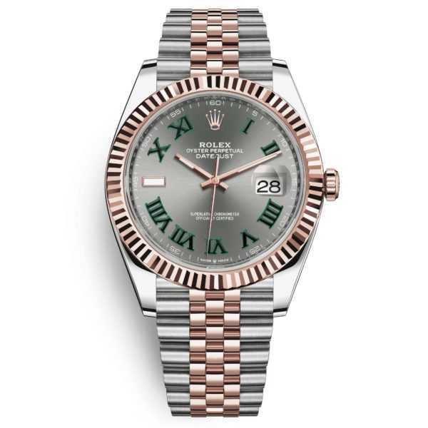 Rolex Datejust 41 Oyster Perpetual Rose Gold Steel Grey Dial