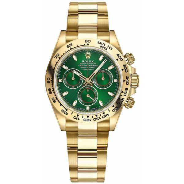 Rolex Cosmograph Daytona Yellow Gold Green Dial