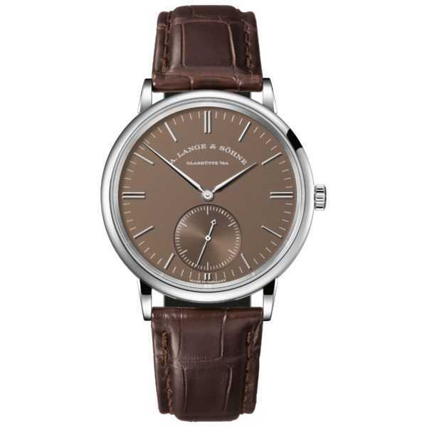A. Lange & Söhne Saxonia Automatic Brown Dial White Gold