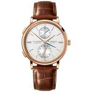 A. Lange & Söhne Saxonia Dual Time Silver Dial Rose Gold