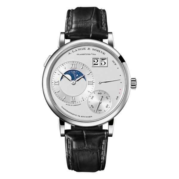 A. Lange & Söhne Grand Lange 1 Moon Phase Silver Dial Platinum