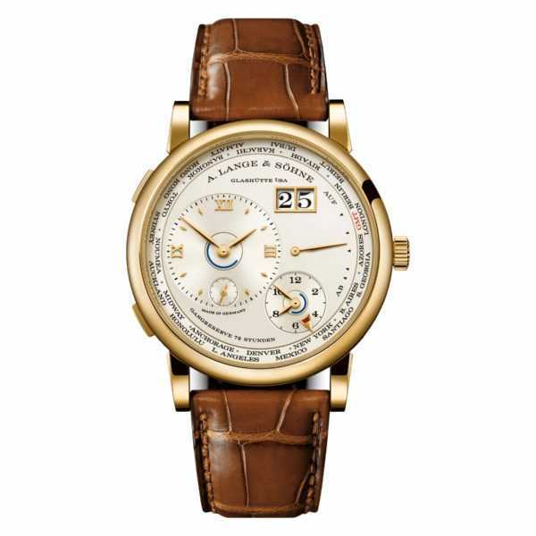 A. Lange & Söhne Lange 1 Time Zone Champagne Dial Yellow Gold